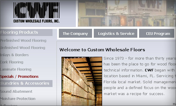 Custom Wholesale Floors website gallery 1